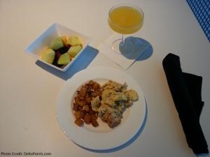 Breakfast at Centurion lounge DFW Delta Points blog