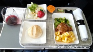 american air 1st class lunch delta points blog