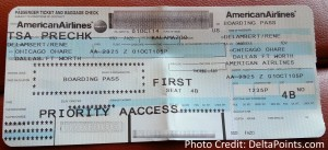 american airliens first class ticket delta points blog