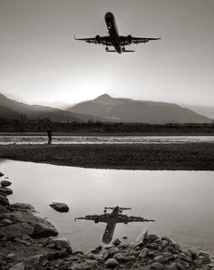 reflection airplane