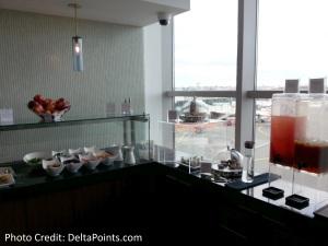 Centurion Lounge LGA LaGuardia Airport american express delta points blog buttet (1)