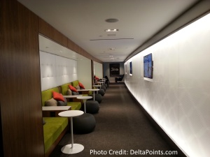 Centurion Lounge LGA LaGuardia Airport american express delta points blog view from checkin (1)