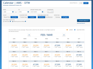 ams to dtw