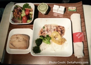 Delta 767-300 domestic 1st class seat chicken dinner Delta points blog