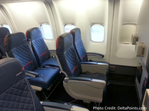 Delta 767-300 domestic comfort plus seat 2-5 Delta points blog