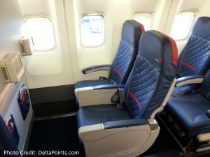 Delta 767-300 domestic comfort plus seat 2 Delta points blog