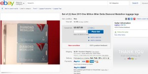 ebay buy delta diamond medallion luggage tag