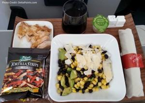 southwest chicken salad delta air lines regional jet 1st class delta points  blog
