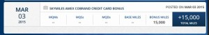 bonus skymiles from 30000 spend on delta reserve card delta points