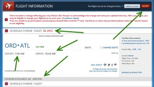 delta schedule changes loaded 15march