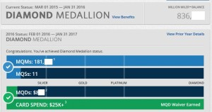 mqms added to my skymiles account instantly updated on delta-com