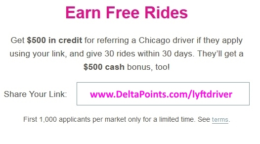 500 credit for new lyft drivers chicago
