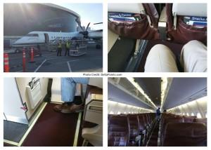 alaska horizon air Q400 prop jet