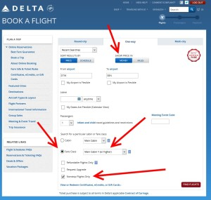 check are there seats for sale on delta-com