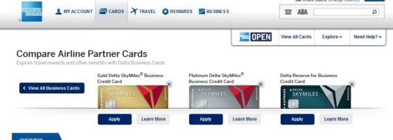 delta amex biz cards