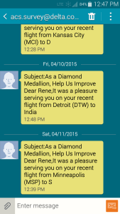 survey from delta not working only to my phone delta points blog