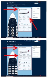 what delta jets have the same size seats in coach and 1st class