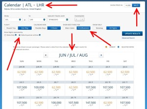 July space atl to LHR Delta partners