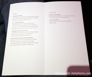 Virgin Atlantic Upper Class menus A330 Atlanta to Manchester Delta Points blog (2)