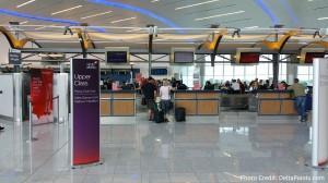 Virgin Atlantic check-in at Atlanta ATL airport pre-security 2