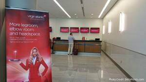 Virgin Atlantic check-in post security Atlanta ATL near gate F6 Delta Points blog 3