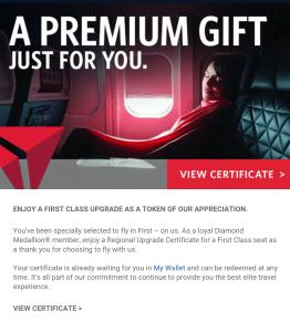 delta gives away regional upgrade certificates to elites delta points blog