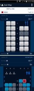 fly delta app shows open seats in 1st and coach