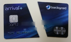 today i cut up my barclaycard arrival plus card delta points blog