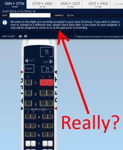 delta now blocking all 1st class seats when in 1st class