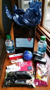 my gift bag from dtw - thanks scott from Delta very much