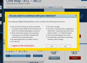 warning box for basic economy on delta on delta-com