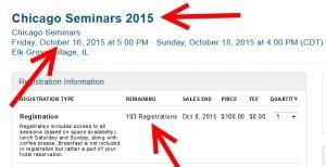 chicago seminars 2015 tickets