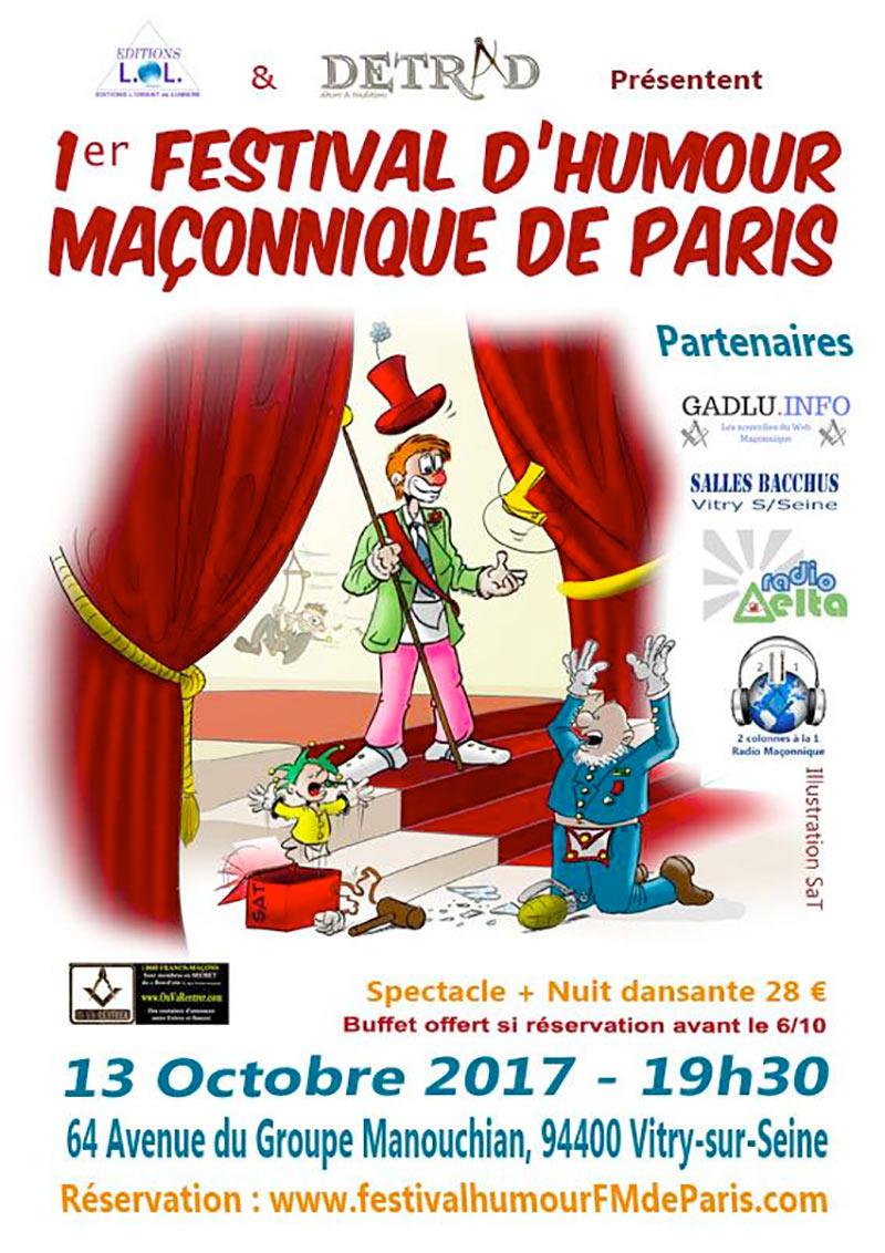 Gadlu Reporter : RadioDelta, partenaire du 1er festival d'humour maçonnique de Paris