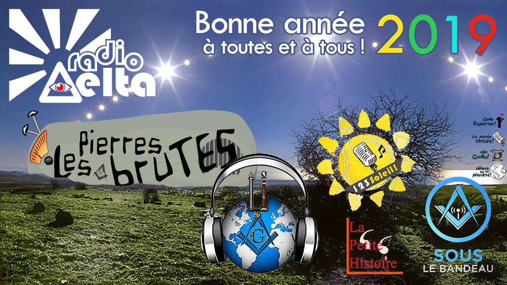 RadioDelta vous souhaite une 3 fois très bonne année 2019 à toutes zé à tous !