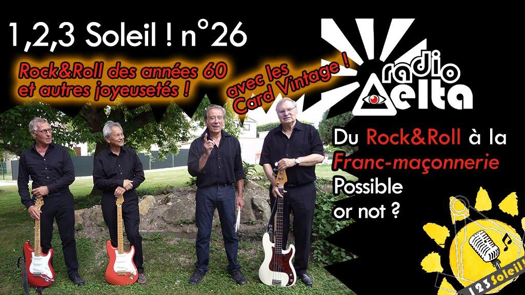 1,2,3, Soleil ! #26 – 29 mars 2019 – Soirée Rock&Roll et autres joyeusetés avec Fernand Cafiero & Jean-Pierre Vic