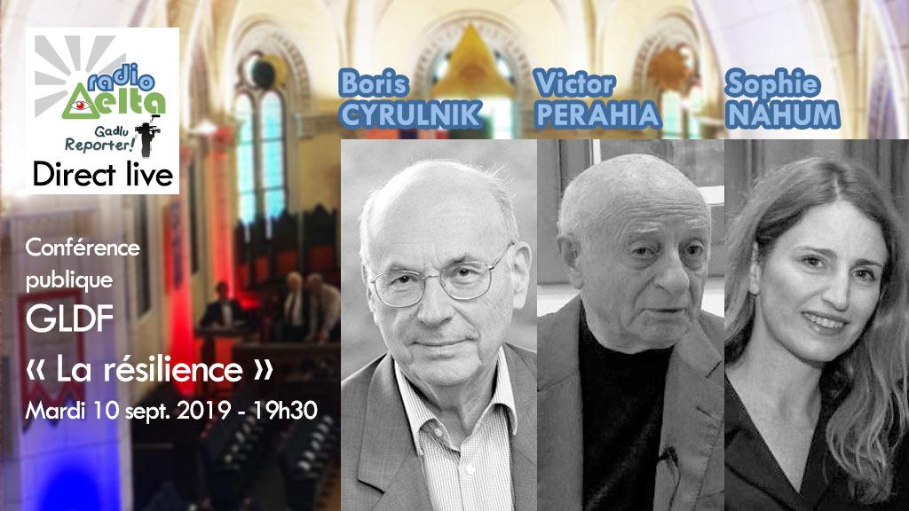 Gadlu Reporter Live : Conférence publique GLDF – La résilience – Boris Cyrulnik – 10 sept. 2019 – 19h30