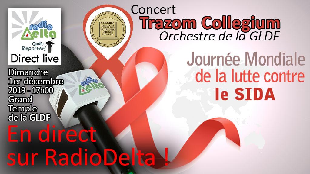 Delta-Info : RadioDelta en direct live : concert à la GLDF en faveur du Sidaction  – dimanche 1er décembre 2019 – 17h00
