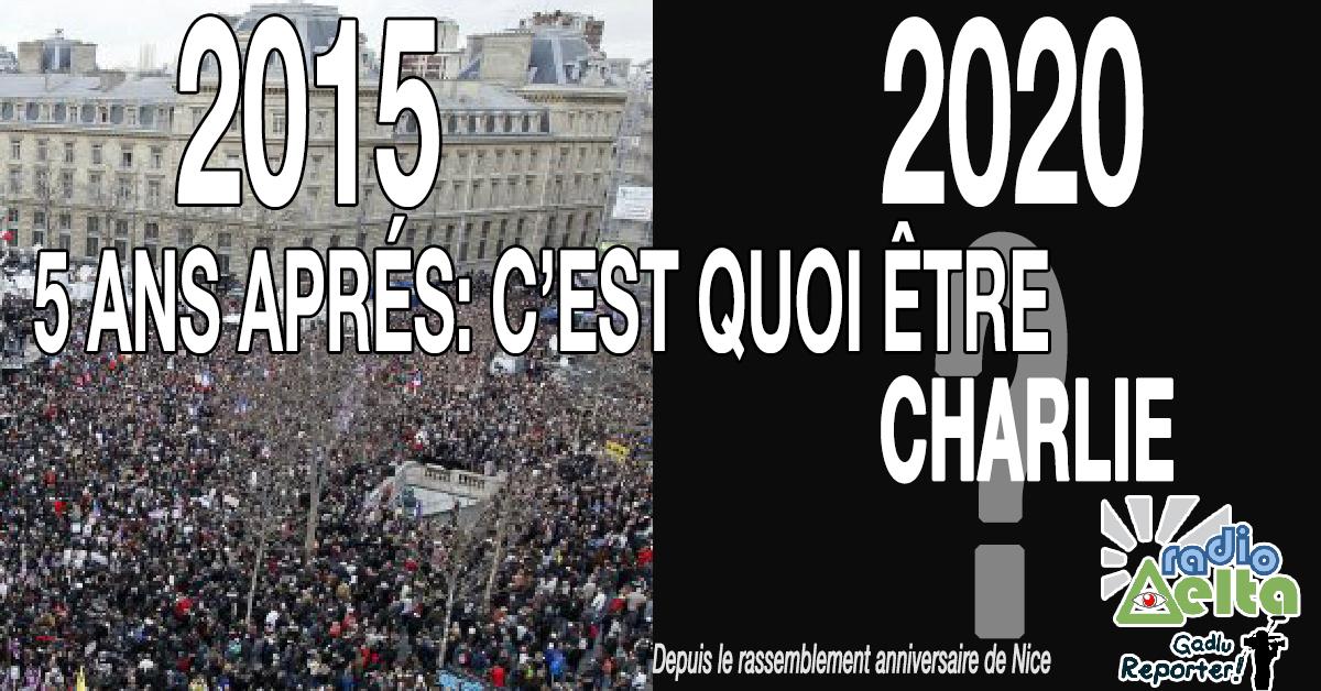 Gadlu Reporter n°20 – 11 Janv 2020 – Rassemblement anniversaire «De Charlie à République» 2015/2020 depuis Nice. Podcast