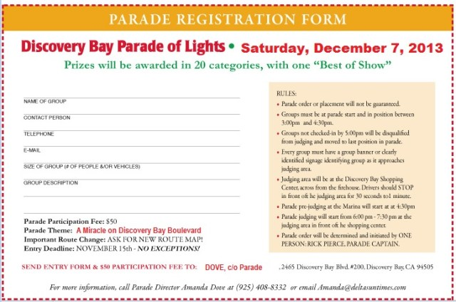 Discovery Bay Parade of Lights, December 7