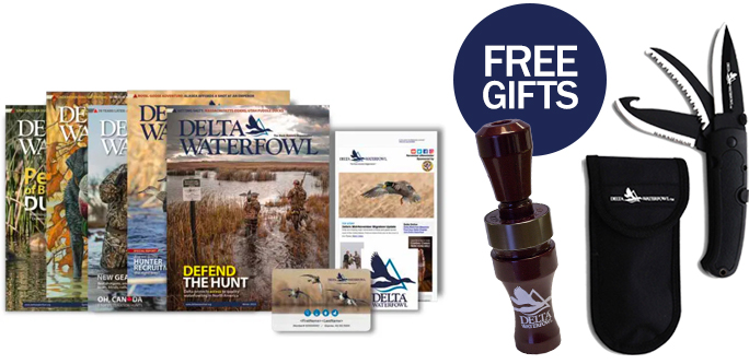 Free Gifts_Duck call, knife and magazines