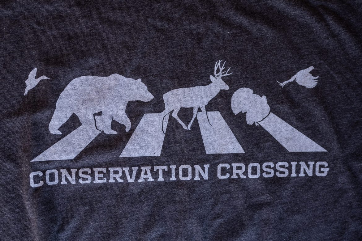 conservation crossing t-shirt