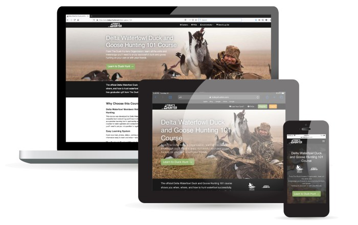 delta waterfowl online duck and goose hunting 101