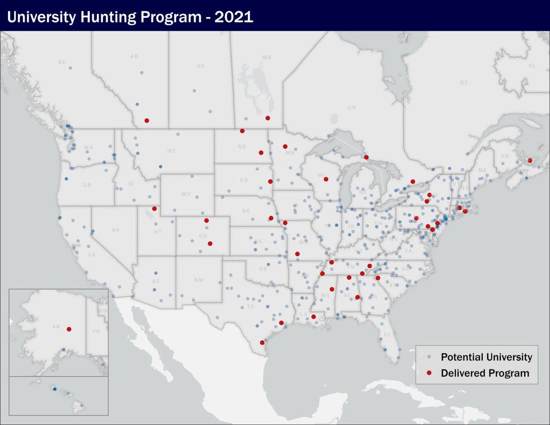 delta waterfowl university hunting program map locations us canada