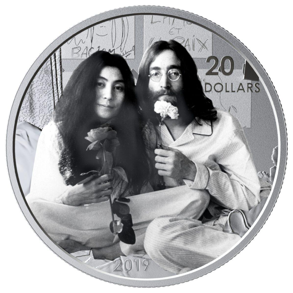 2019 $20 Fine Silver Coin - Give Peace a Chance 50th Anniversary REV