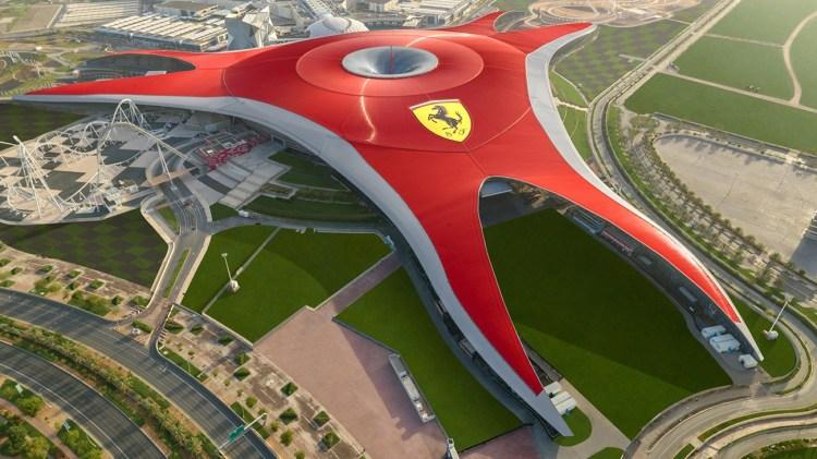 Ferrari World red building Abu Dhabi