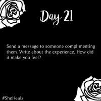 #31DaysSheHeals - Day 21