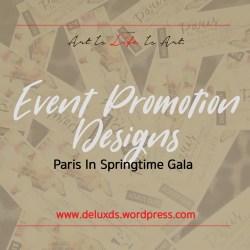 Event Promotion Designs - Paris in Springtim
