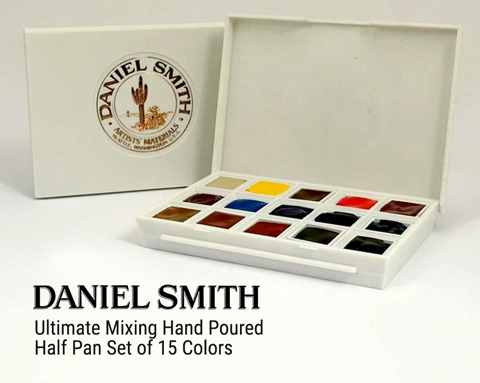 Daniel Smith Ultimate Mixing Half Pan Set Giveaway with Doodlewash