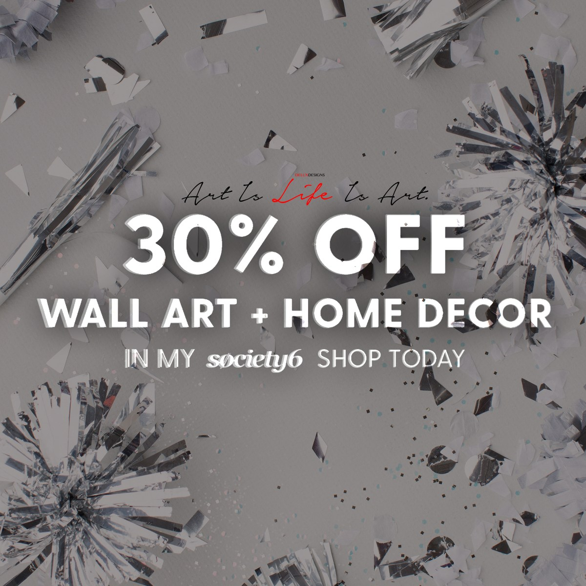 30% off All Wall Art and Home Decor with Society6