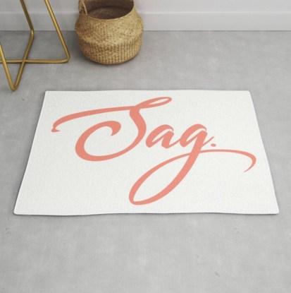 Sag Rug designed by Visual Artist Keara Douglas of Delux Designs (DE), LLC